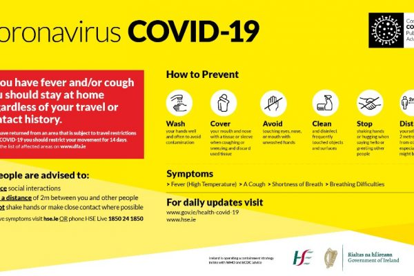 Information for employers, employees and the self-employed relating to COVID-19 (Coronavirus).